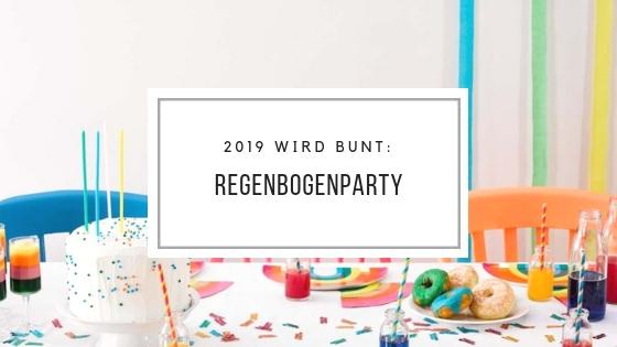 2019 wird bunt: Party Trendmotto Regenbogen